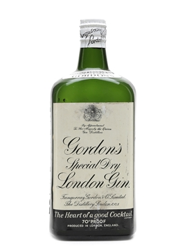Gordon's Special Dry London Gin Bottled 1950s - Spring Cap 75cl / 40%