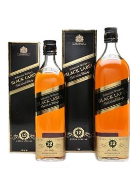 Johnnie Walker Black Label 12 Year Old 1L & 70cl / 41.5%