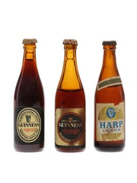 Tiny Guinness & Lager Bottles
