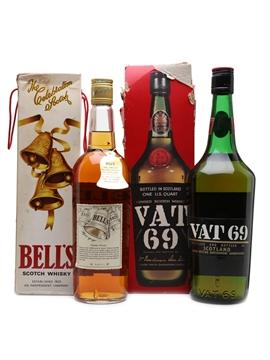Bell's & Vat 69 Bottled 1970s 75.7cl & 94cl / 43%