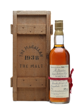 Macallan 1938 Handwritten Label