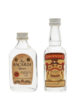 Smirnoff Vodka & Bacardi Carta Blanca Rum