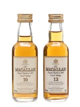 Macallan 10 Year Old & 12 Year Old