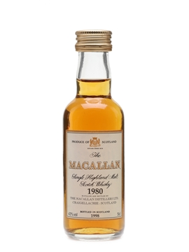 Macallan 1980 Bottled 1998 5c; / 43%