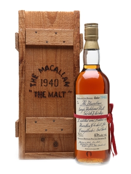 Macallan 1940 Handwritten Label