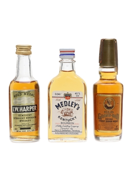 I W Harper, Medley's, Old Grand Dad  3 x 4cl-5cl