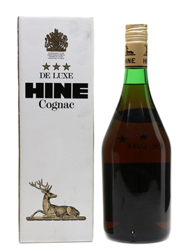 Hine 3 Star De Luxe Bottled 1980s 100cl / 40%