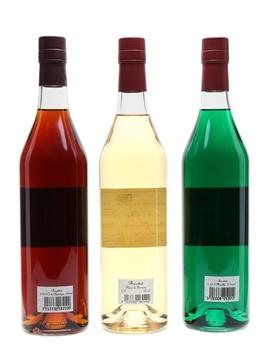 Briottet Liqueurs Chestnut, Elderflower and Green Mint 3 x 70cl