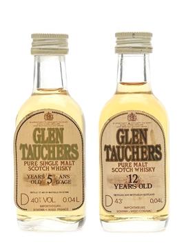 Glentauchers 5 & 12 Year Old Bottled 1980s 2 x 4cl