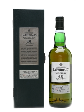 Laphroaig 40 Year Old Natural Cask Strength - Allied Domecq 75cl / 42.4%
