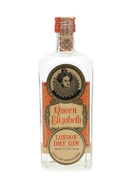 Queen Elizabeth London Dry Gin Bottled 1960s 75cl / 40%