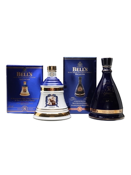 Bell's Ceramic Decanters Golden Wedding and Golden Jubilee 2 x 70cl / 40%