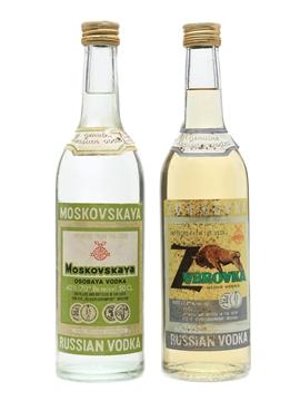 Moskovskaya & Zubrovka Vodka