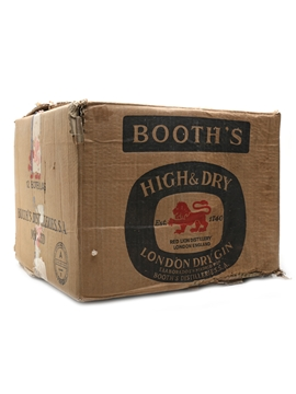 Booth's High & Dry Bottled 1970s 12 x 75cl / 43%