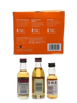 Whisky Selection Set Famous Grouse, Grant's & Teacher's 3 x 5cl / 40%