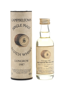 Longrow 1987 8 Year Old - Signatory Vintage 5cl / 43%