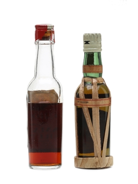 Bardinet Negrita Old Nick Rum & Nicolson Finest Jamaica Rum Bottled 1960s 2 x 5cl