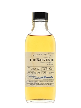 Balvenie 1972 Bottled 2006 - Press Sample 10cl / 47.3%