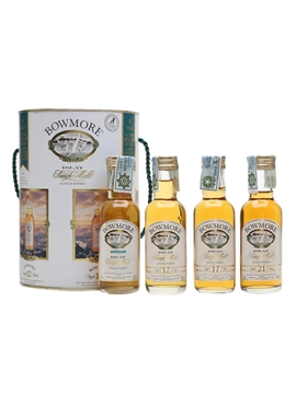 Bowmore Miniatures Collection Legend, 12, 17 & 21 Year Old 4 x 5cl / 43%