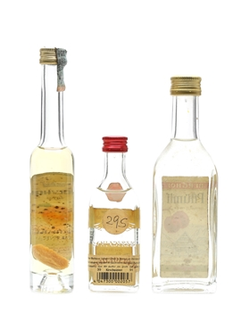 Assorted Fruit Brandy Berghof, Bolyhos & Schladerer 3 x 3cl-10cl