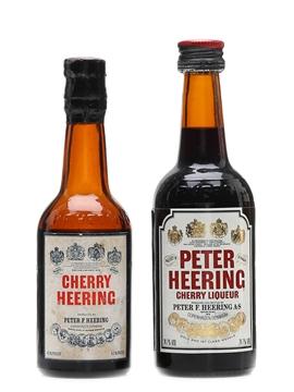 Peter Heering & Cherry Heering Bottled 1970s-1980s 2 x 5cl / 24%