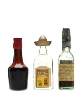 Assorted Spirits & Liqueurs Brandy, Liqueur & Tequila 3 x 4cl-5cl