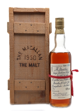 Macallan 1950 Handwritten Label