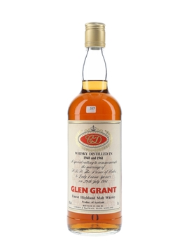 Glen Grant 1948 & 1961 Royal Wedding Bottled 1981 - Gordon & MacPhail 75cl / 40%