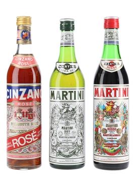 Cinzano Rose & Martini Dry & Rosso