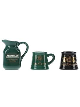 Aberfeldy, Glenlivet & Glenturret Ceramic Water Jugs