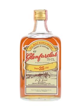 Glenfarclas 25 Year Old Bottled 1970s-1980s - Pinerolo 75cl / 43%