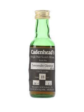 Tamnavulin Glenlivet 18 Year Old Bottled 1980s - Cadenhead's Chess Set 5cl / 58%