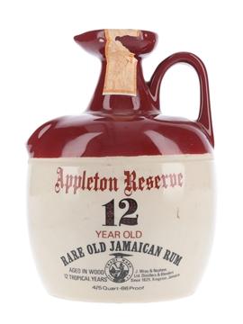 Appleton Reserve 12 Year Old Ceramic Decanter Bottled 1970s - Wray & Nephew 75.7cl / 43%
