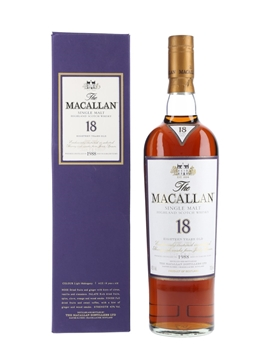 Macallan 18 Year Old 1988 And Earlier 70cl / 43%