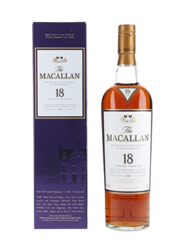 Macallan 18 Year Old 1989 and Earlier 70cl / 43%