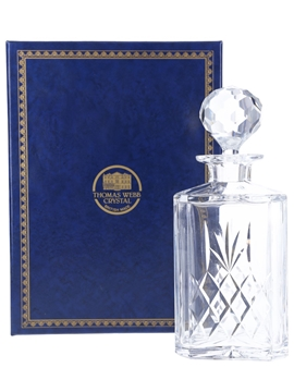 Thomas Webb Crystal Decanter With Stopper