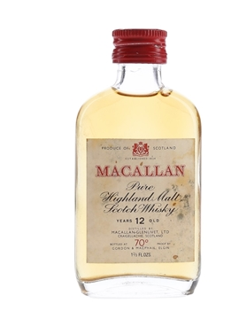 Macallan 12 Year Old 70 Proof Bottled 1970s - Gordon & MacPhail 4.7cl / 40%