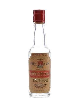 J & W Nicholson Finest Dry Gin