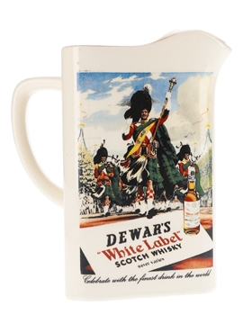 Dewar's White Label Ceramic Water Jug