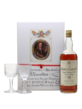 Macallan 12 Year Old & Jacobite Glasses