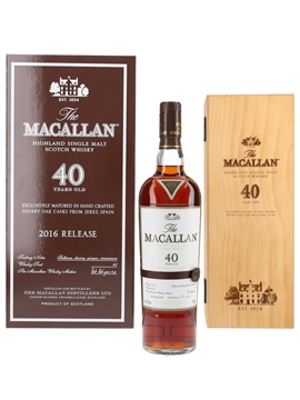 Macallan 40 Year Old 2016 Release 70cl / 45%