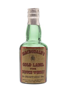 MacDonald's Gold Label Bottled 1940s-1950s - Andrew MacDonald Ltd. 5cl / 40%