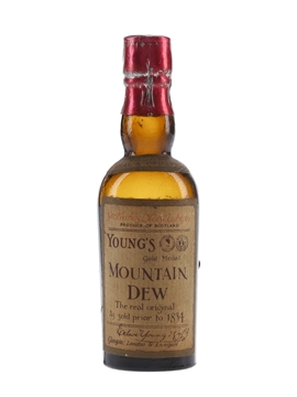 Young's Mountain Dew Gold Medal Bottled 1920s-1930s - Edward Young & Co. 5cl