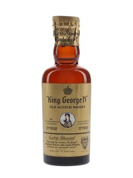 King George IV Spring Cap Bottled 1950s 5cl / 40%