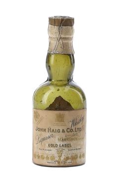 Haig Gold Label Liqueur Whisky Bottled 1920s-1930s 5cl