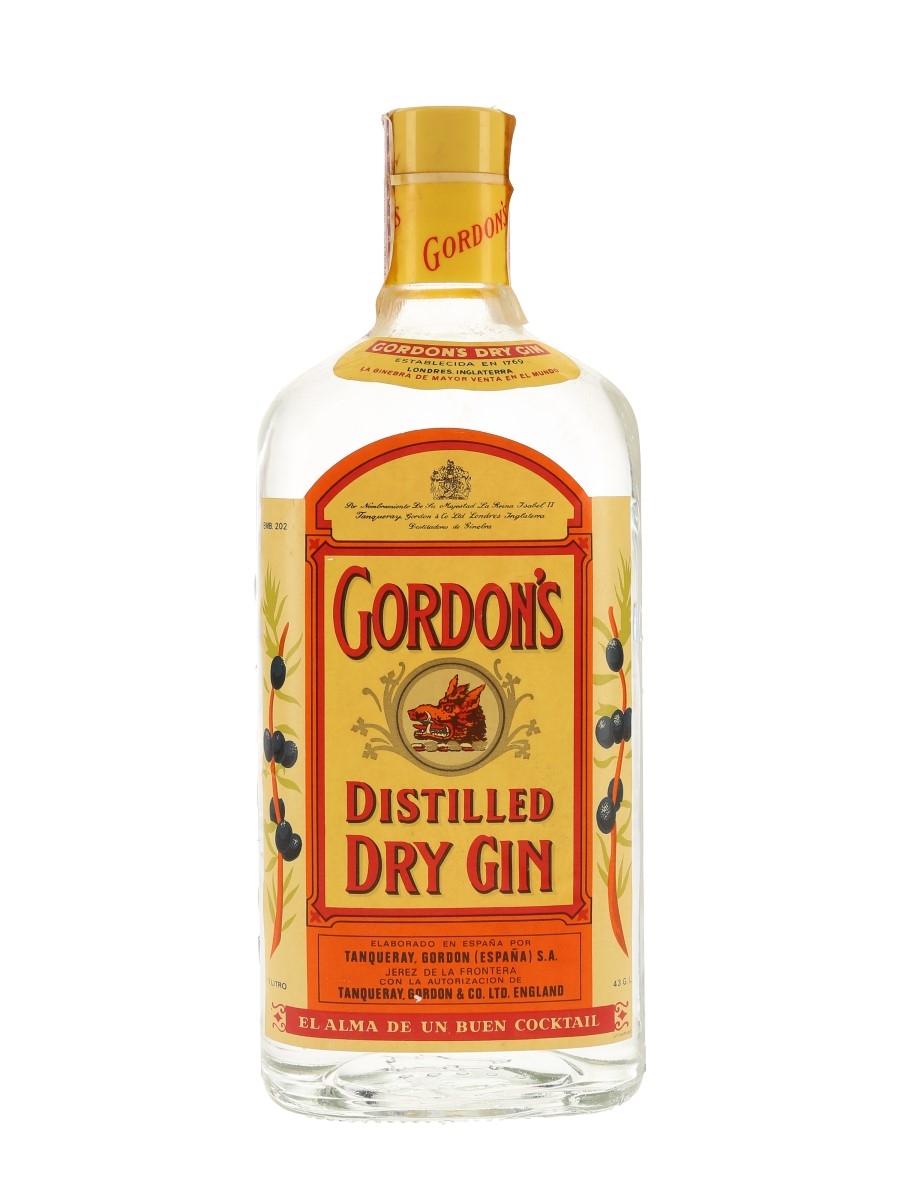 Gordon's Dry Gin Bottled 1970s - Spain 100cl / 43%