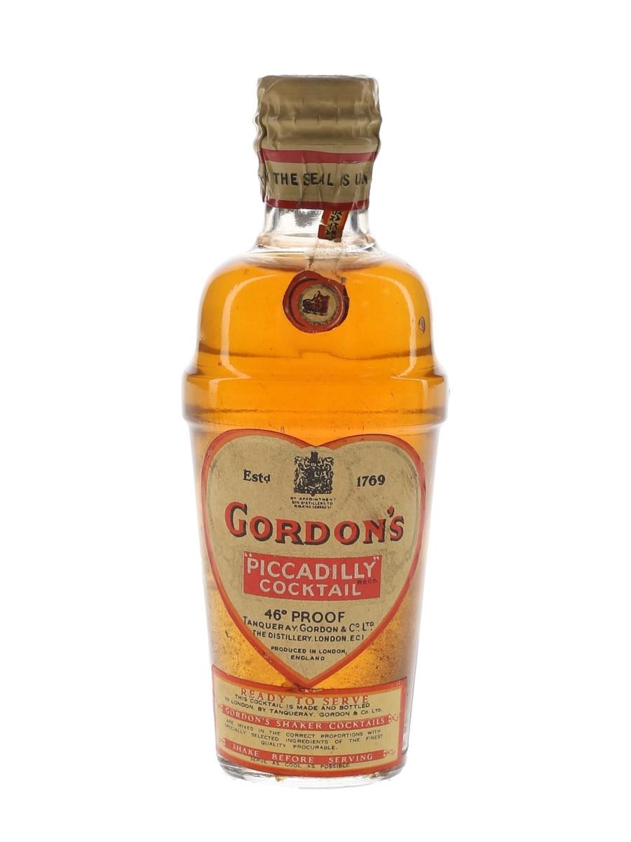 Gordon's Piccadilly Cocktail Spring Cap Bottled 1940s-1950s 5cl / 26%