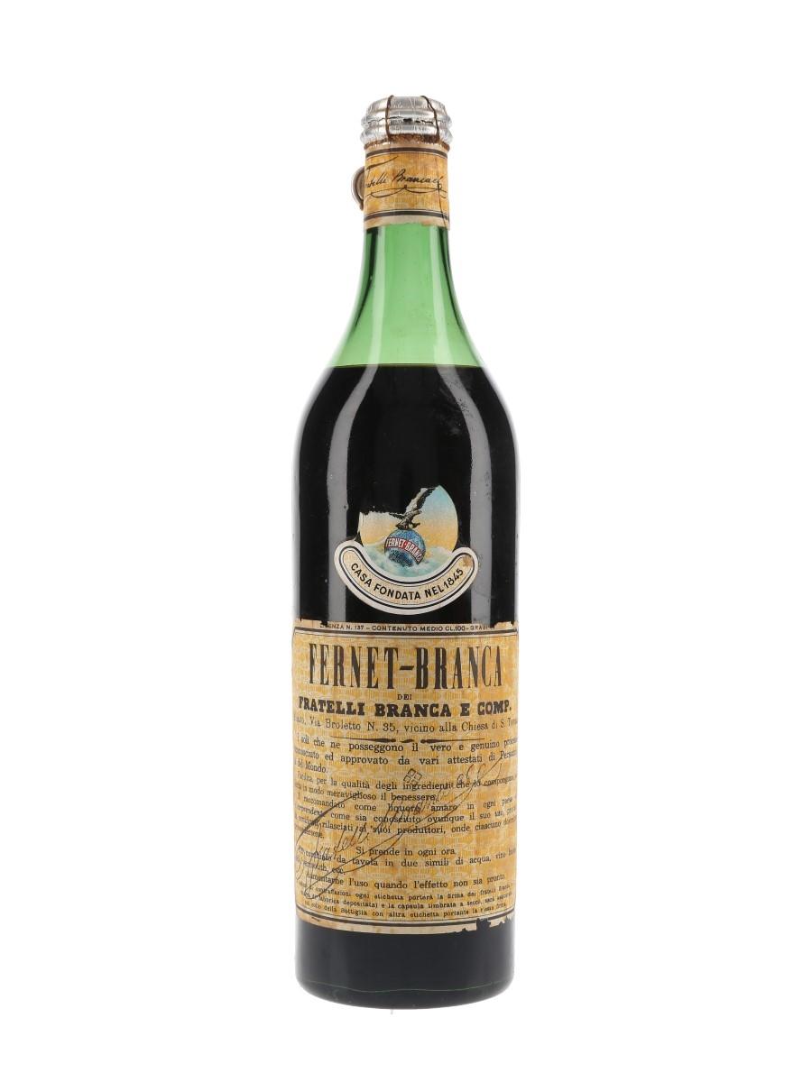 Fernet Branca Bottled 1950s 100cl