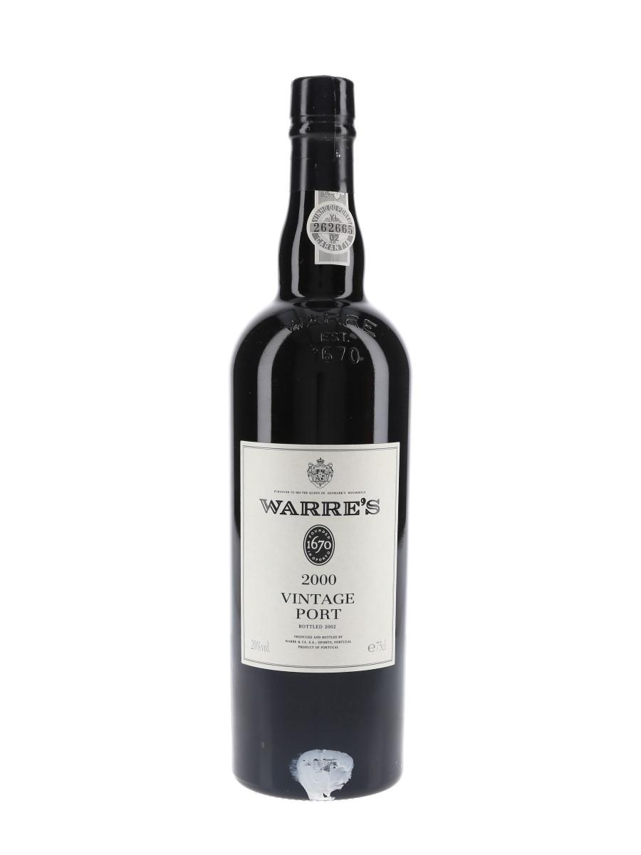 Warre's 2000 Vintage Port Bottled 2002 75cl / 20%