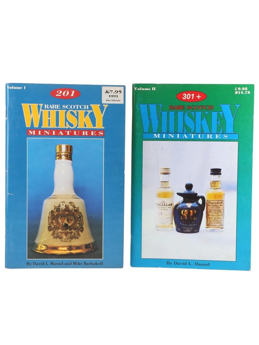 Rare Scotch Whiskey Miniatures Volumes I & II David L Maund